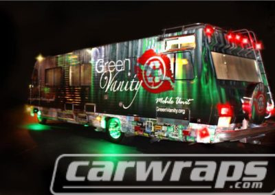 Bus Wrap Green Vanity