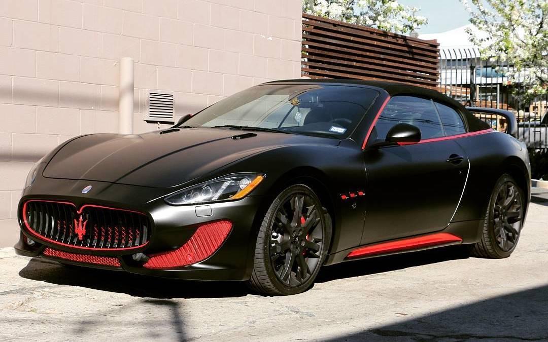 Satin Black Maserati Car Vehiclewraps Carwraps Carporn California Hollywood Losangeles
