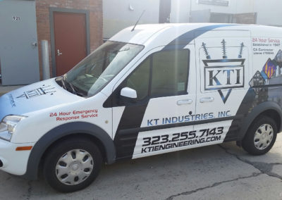 KT Industries Full Black and White Car Wrap