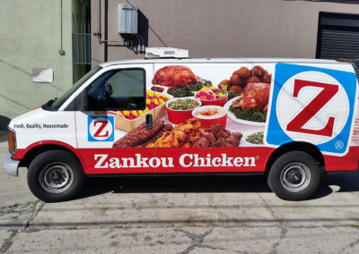 Zankou Chicken Full Body Delivery Van Wrap
