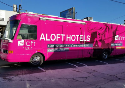 A Loft Hotels Bus Wrap