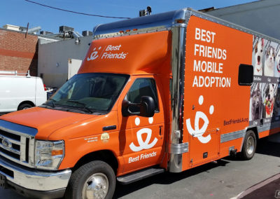 Orange Multi Print Best Friends Mobile Adoption Truck Wraps