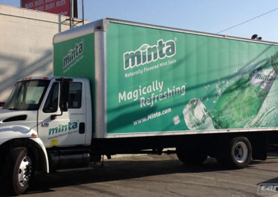 Minta Soda Truck Side Wrap