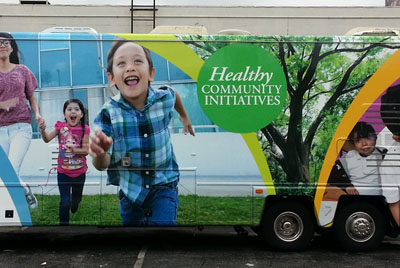 Healthy Community Initiatives Bus Wrap