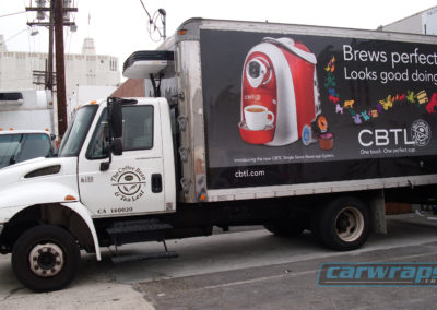Coffee Bean Box Truck Side Wrap