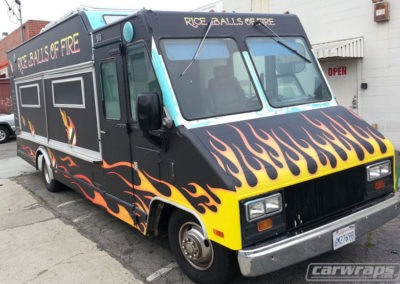 Rice Balls of Fire Food Truck Wrap