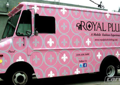 Royal Plush Food Truck Wrap