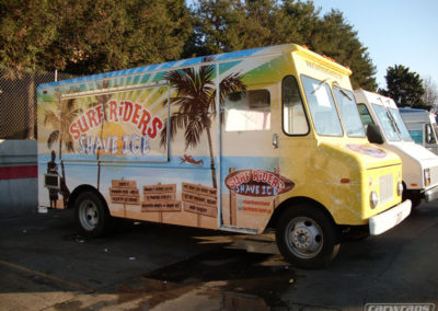 Surf Riders Shave Ice Food Truck Wrap