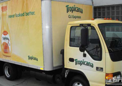 Tropicana Truck Side Wrap