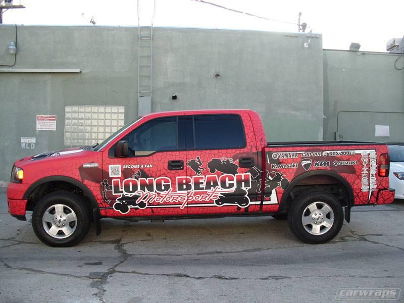 longbeach motorsport truck wrap