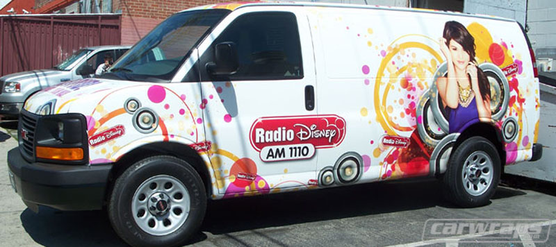 Radio Disney 1110 Van Wrap on old radio