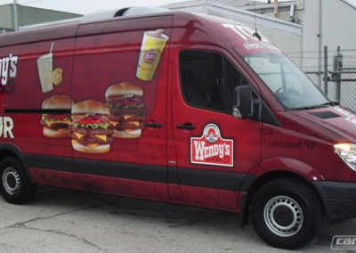 Wendys Commercial Van Wraps