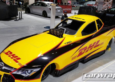 DHL Car Wrap