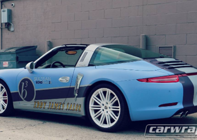Eddy James Salon Porsche Car Wrap
