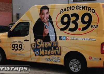 Radio Centro 93.9 Van Wrap