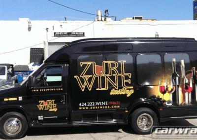 Zuri Wine Tasting Tour Van Wrap