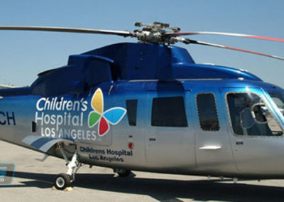 Children's Hospital Los Angeles Helicopter Custom Wrap