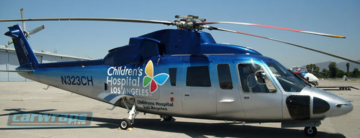 Childrens Hospital Los Angeles Helicopter Custom Wrap on van wraps graphics