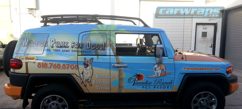 Paradise Ranch Truck Wrap