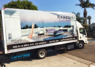 Rapport Furniture Truck Wrap