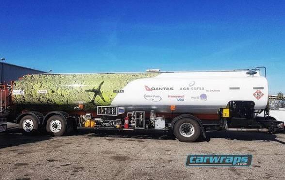 Gas Tanker Truck Wrap