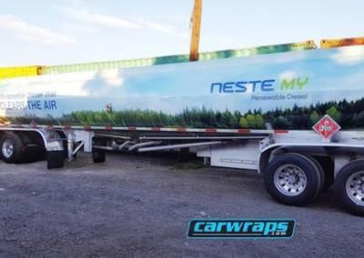 Neste Tanker Truck Wrap