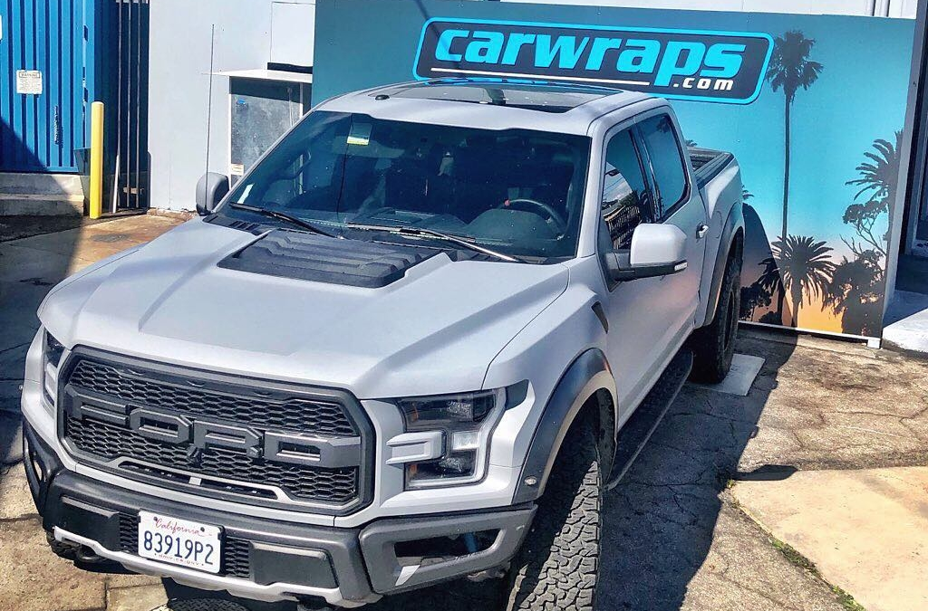 This Mean-Machine is ready to tear up So Cal. Avery Matte Dark Grey. #doyou #truckwrap #socal #vehiclewrap #carporn #losangeles #carwrap #instaauto #instadaily #paintisdead #raptor
