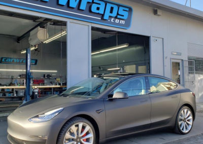 Grey Tesla Model 3 Car Wrap