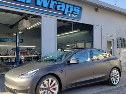 Grey Tesla Model 3 Car Wrap
