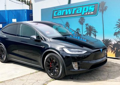 Tesla Chrome Delete Car Wrap