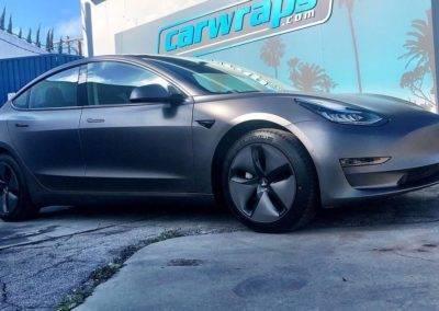 Tesla 3M Matte Dark Grey Car Wraps